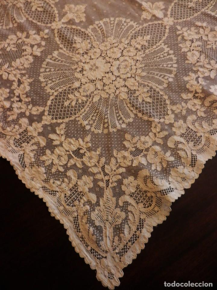 Antigüedades: Fantástico panel, mantelería mantel cubre mesa u otros usos en Alençon antiguo. Años 20. - Foto 9 - 108981807