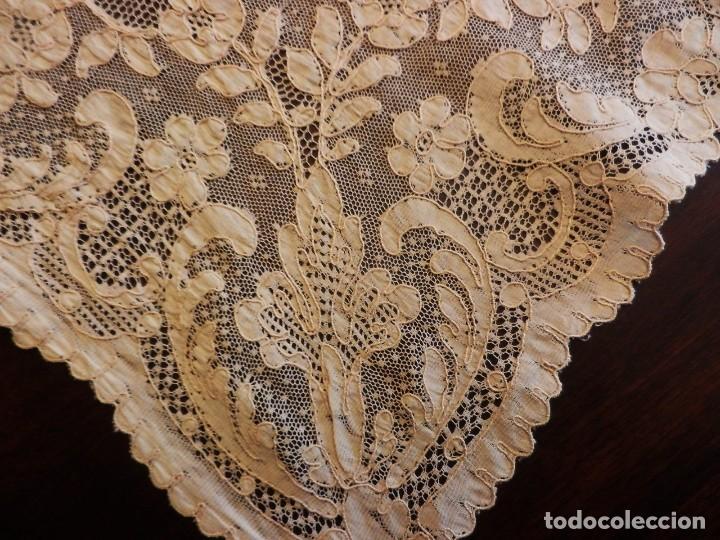 Antigüedades: Fantástico panel, mantelería mantel cubre mesa u otros usos en Alençon antiguo. Años 20. - Foto 10 - 108981807