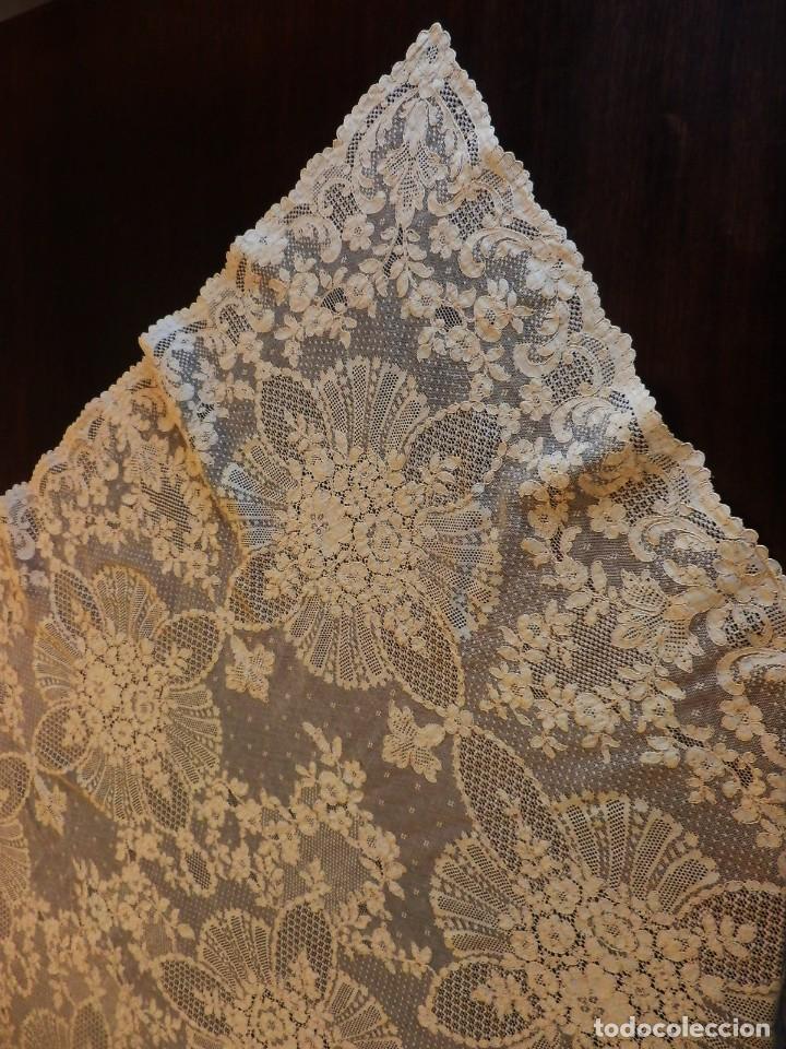 Antigüedades: Fantástico panel, mantelería mantel cubre mesa u otros usos en Alençon antiguo. Años 20. - Foto 12 - 108981807