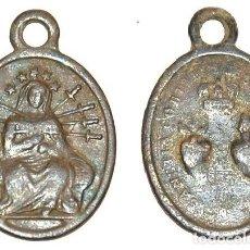 Antigüedades: MEDALLA SERVITA DEL SIGLO XIX DOLOROSA/CORAZONES DE JESUS Y DE MARIA - Nº 181. Lote 108987723