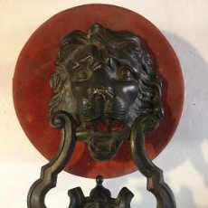 Antigüedades: LLAMADOR DE BRONCE GRANDES DIMENSIONES. Lote 108990551