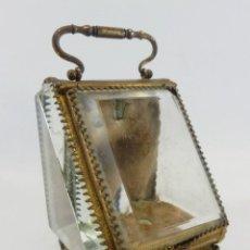 Joyero, Coffret à Bijoux para reloj en cristal de roca biselado, y bronce. S XIX , Napoleón III