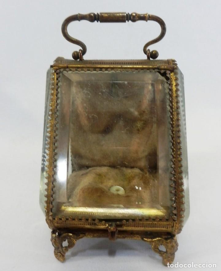 Antigüedades: Joyero, Coffret à Bijoux para reloj en cristal de roca biselado, y bronce. S XIX , Napoleón III - Foto 2 - 108990955