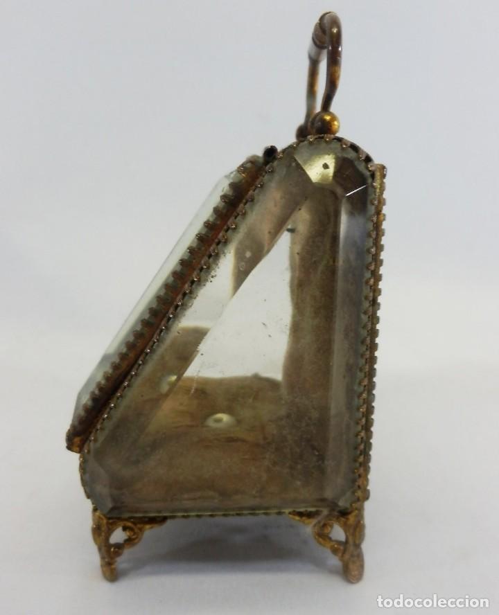 Antigüedades: Joyero, Coffret à Bijoux para reloj en cristal de roca biselado, y bronce. S XIX , Napoleón III - Foto 3 - 108990955