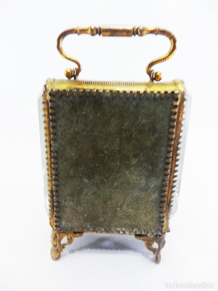 Antigüedades: Joyero, Coffret à Bijoux para reloj en cristal de roca biselado, y bronce. S XIX , Napoleón III - Foto 4 - 108990955