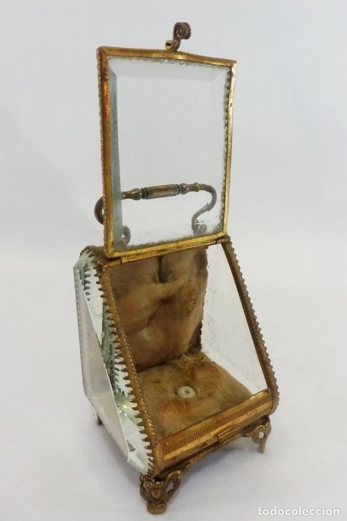 Antigüedades: Joyero, Coffret à Bijoux para reloj en cristal de roca biselado, y bronce. S XIX , Napoleón III - Foto 5 - 108990955