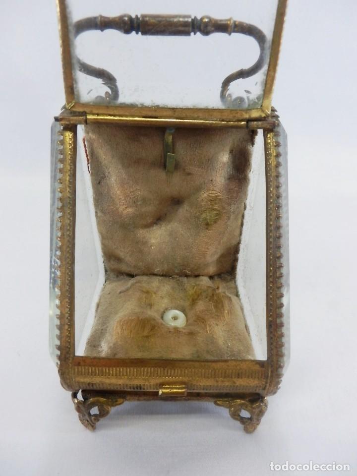 Antigüedades: Joyero, Coffret à Bijoux para reloj en cristal de roca biselado, y bronce. S XIX , Napoleón III - Foto 6 - 108990955