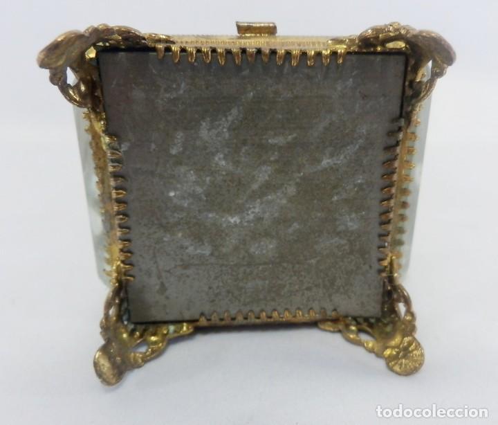 Antigüedades: Joyero, Coffret à Bijoux para reloj en cristal de roca biselado, y bronce. S XIX , Napoleón III - Foto 9 - 108990955