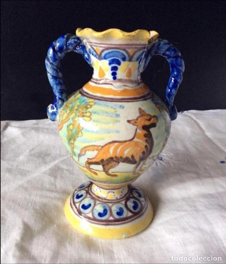 TALAVERA ,ANTIGUO JARRÓN DE NIVERIO, (Antigüedades - Porcelanas y Cerámicas - Talavera)