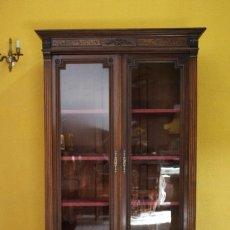 Antigüedades: VITRINA / BIBLIOTECA DE 1900. REF. 6173. Lote 109039919