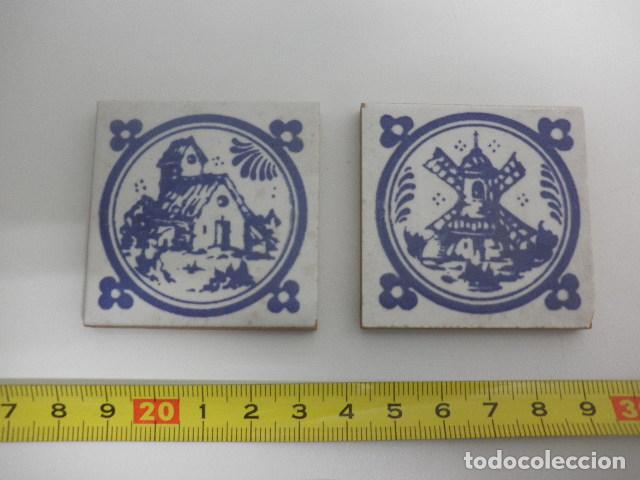2 OLAMBRILLAS - MOTIVO CAZA Y CAMPO - ABS (Antigüedades - Porcelanas y Cerámicas - Otras)