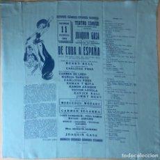 Antigüedades: PAÑUELO DE SEDA TEATRO CÓMICO JUAQUIN CASA AÑO 1951 DE CUBA A ESPAÑA. Lote 109043371