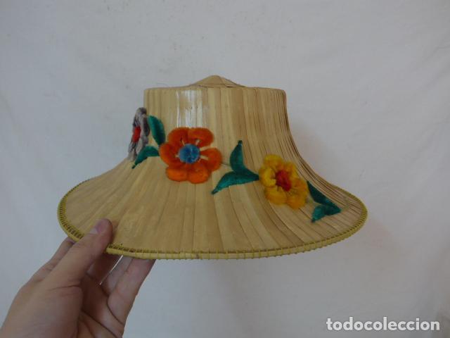 ANTIGUO GORRO O SOMBRERO DE THAILANDIA, ORIGINAL. GORRA. (Antigüedades - Moda - Sombreros Antiguos)