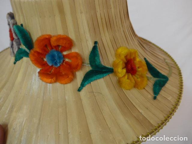 Antigüedades: Antiguo gorro o sombrero de thailandia, original. Gorra. - Foto 2 - 109048039