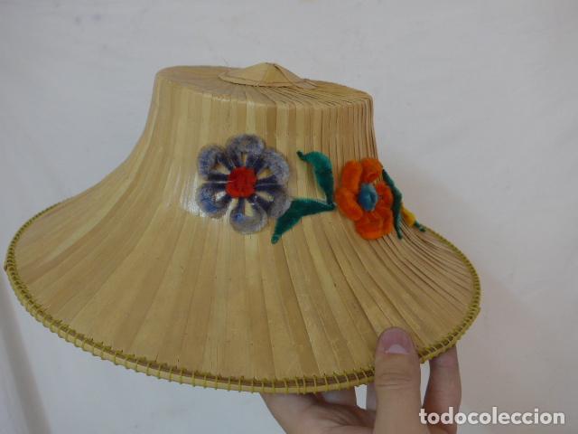 Antigüedades: Antiguo gorro o sombrero de thailandia, original. Gorra. - Foto 3 - 109048039