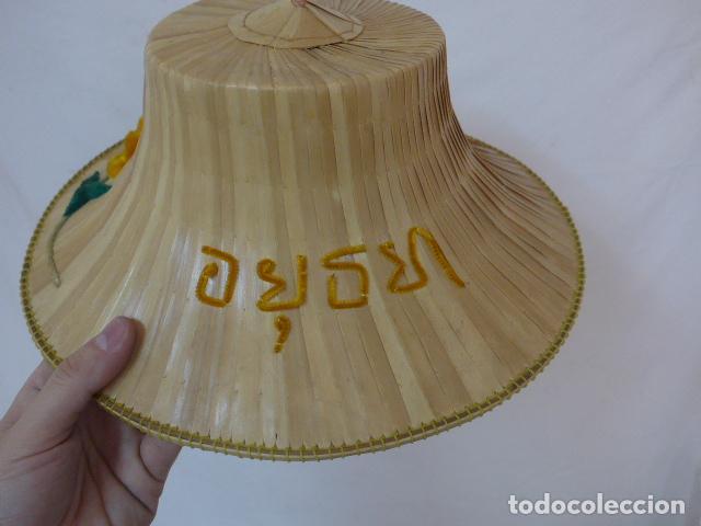 Antigüedades: Antiguo gorro o sombrero de thailandia, original. Gorra. - Foto 5 - 109048039