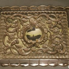 Antigüedades: BANDEJA DE PLATA. Lote 109051783
