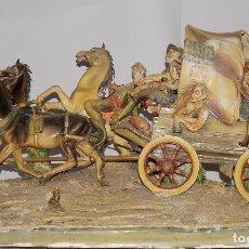 Antigüedades - figura escultura porcelana Galos caravana gran tamaño 80cm - 109055607
