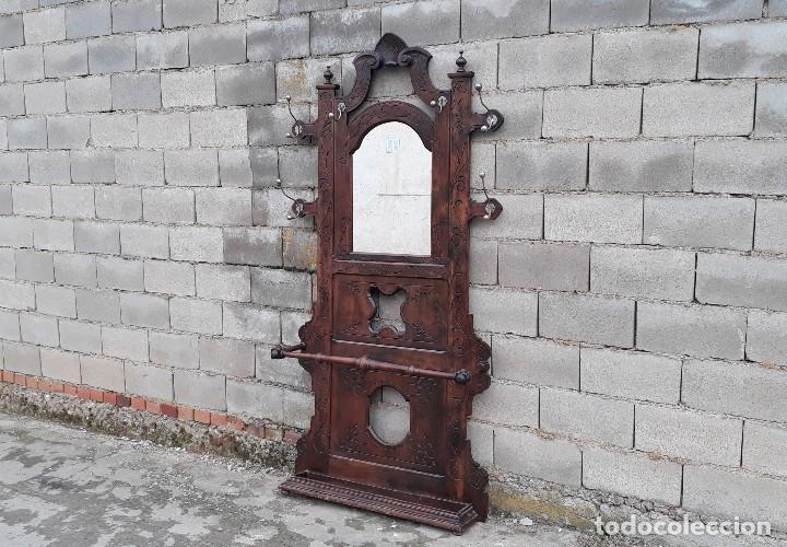 Recibidor perchero parag ero antiguo con espejo comprar muebles auxiliares antiguos en - Perchero recibidor antiguo ...