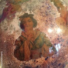 Antigüedades - DECALCOMANIA VICTORIANA EN CRISTAL SIGLO XIX , RARISIMO - 109110839