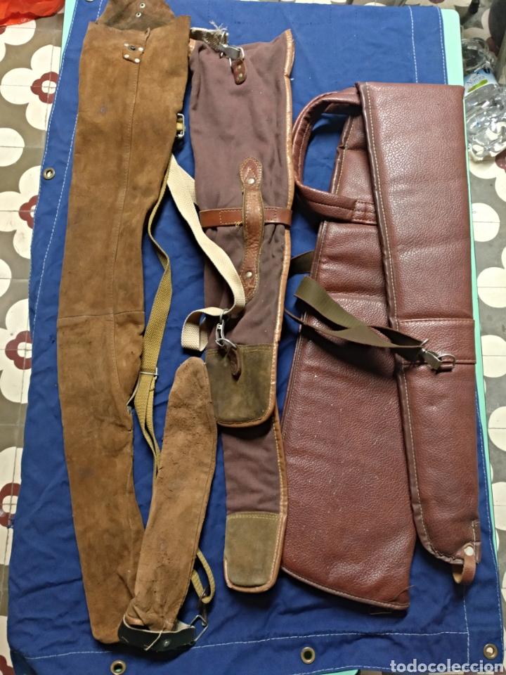 Antigüedades: Lote 3 fundas escopeta de caza - Foto 2 - 118137284