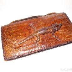 Antigüedades: ANTIGUO BOLSO ART DECO PIEL DE COCODRILO AÑOS 20 AMERICANO. Lote 109129859