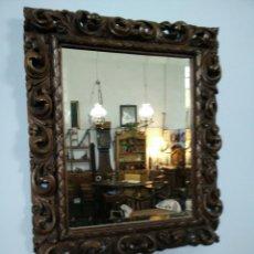 Antigüedades: MARCO TALLADO CON ESPEJO. Lote 109146472