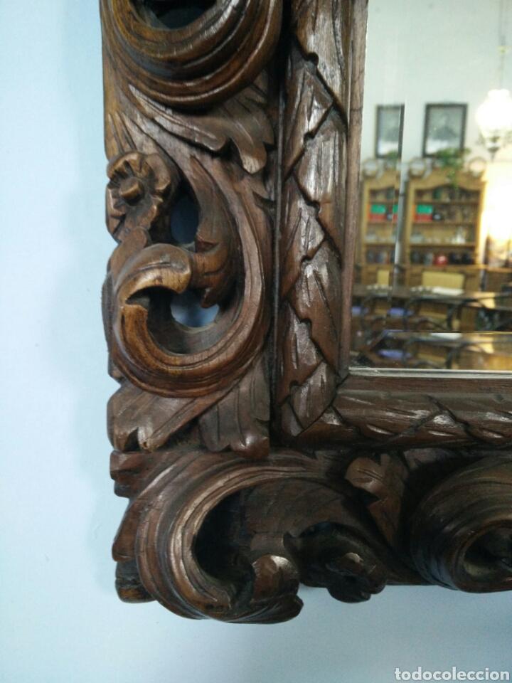 Antigüedades: Marco tallado con espejo - Foto 2 - 109146472