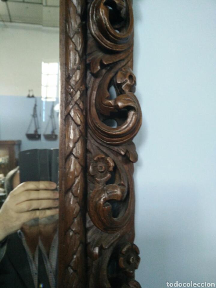 Antigüedades: Marco tallado con espejo - Foto 3 - 109146472