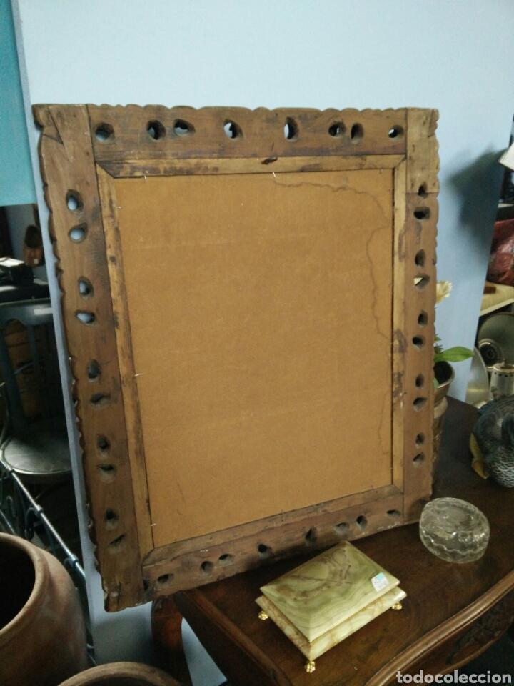 Antigüedades: Marco tallado con espejo - Foto 4 - 109146472