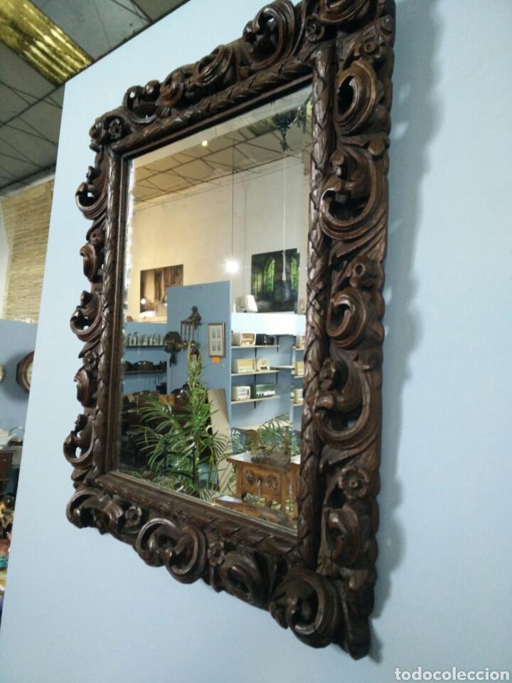 Antigüedades: Marco tallado con espejo - Foto 6 - 109146472