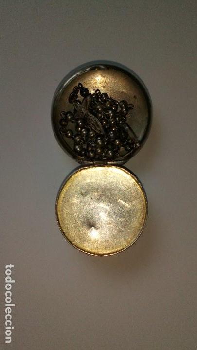 Antigüedades: Colgante con mini rosario de plata - Foto 6 - 109147299