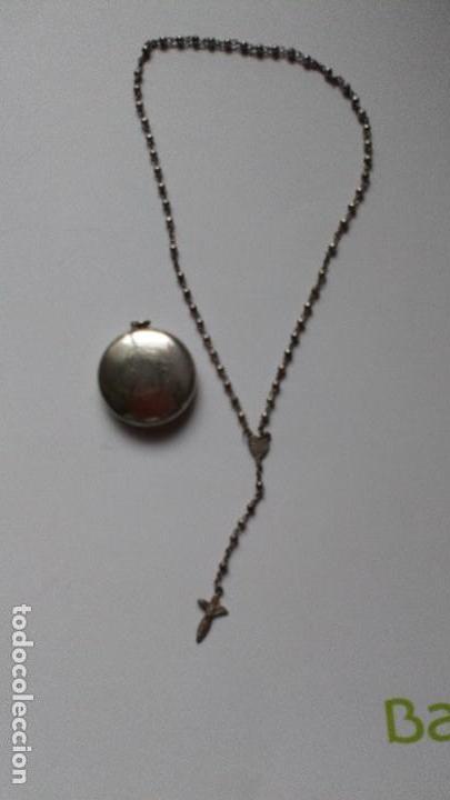 Antigüedades: Colgante con mini rosario de plata - Foto 7 - 109147299
