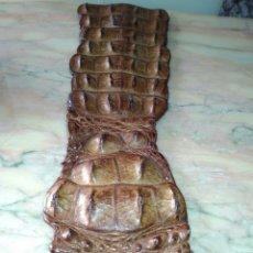 Antigüedades: AUTENTICA PIEL CON ESPINAS DE COCODRILO. Lote 109151631