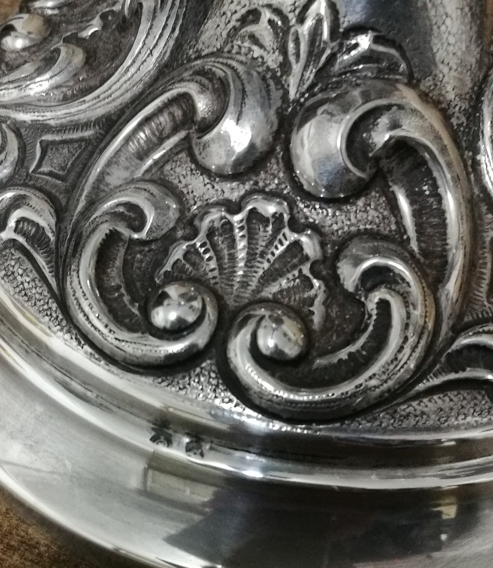 Antigüedades: PAREJA DE CANDELABROS DE 5 LUCES. PLATA DE LEY CONTRASTADA. - Foto 12 - 103292091