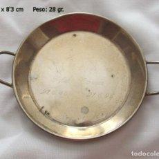 Antigüedades: PAELLA EN PLATA MACIZA RECUERDO. Lote 109186787
