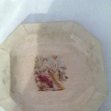 Antigüedades: ANTIGUA FUENTE PLATO CERAMICA OCHAVADA.SAN CLAUDIO.OVIEDO.SELLO ANTIGUO. Lote 109192050