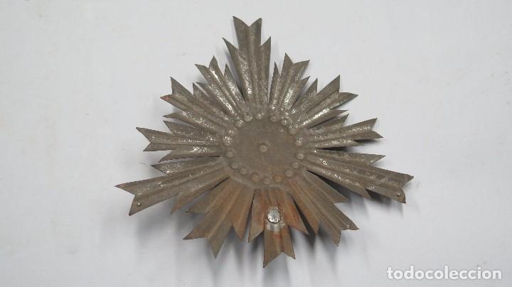 Antigüedades: ANTIGUA CORONA PARA IMAGEN. SIGLO XIX - Foto 3 - 109209955