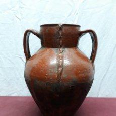 Antigüedades: ORZA (E2)... OLLA.. BARRO CASTELLANO. JIMENEZ DE JAMUZ. LEON. Lote 109214695