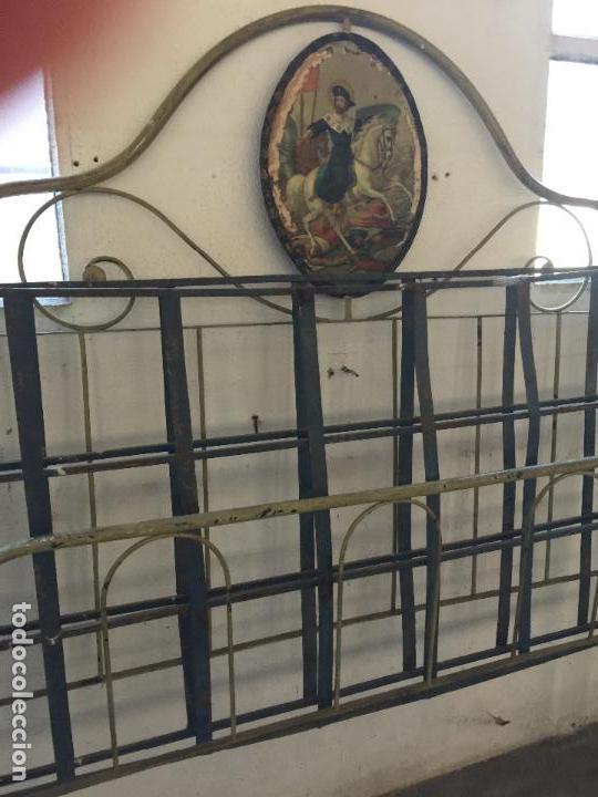 Antigua cama de hierro plegable de convento i comprar - Camas de hierro antiguas ...