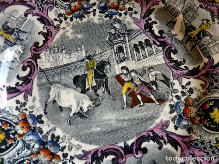Antigüedades: EXCLUSIVO PLATO HOLANDÉS CERÁMICA TOROS SEVILLA - Foto 3 - 109238023