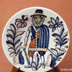 Antigüedades: VIEJO PLATO DE TALAVERA, FIRMADO S.MORA. Lote 109243431