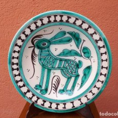 Antigüedades: VIEJO PLATO DE TALAVERA, FIRMADO S.MORA. Lote 109243607