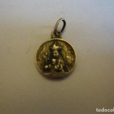 Antigüedades: PEQUEÑA MEDALLA DE LA VIRGEN DEL CARMEN Y SAGRADO CORAZON DE JESÚS PLATA DE LEY. Lote 109265951
