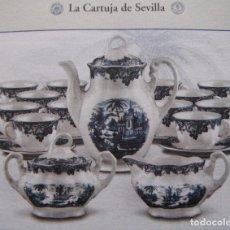 Antigüedades: JUEGO DE CAFE MARIA CRISTINA DE LA CARTUJA DE SEVILLA. Lote 109268651