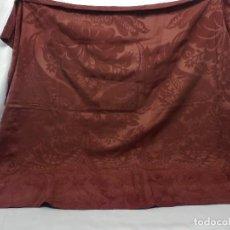 Antigüedades: T3-4 TELAR ROJO DE SEDA S XIX PARA CONFECCIÓN. Lote 109277371