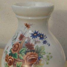 Antigüedades: JARRA BOTIJO CERÁMICA VINTAGE PINTADO A MANO LAS FLORES. Lote 109281107