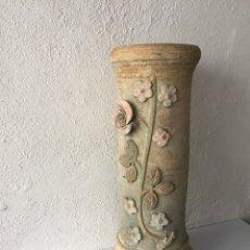Antigüedades: MACETERO DE BARRO ANTIGUO. Lote 109285406