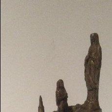 Antigüedades: FIGURA ALTAR DE LA VIRGEN LOURDES DE METAL CON MÚSICA A CUERDA. Lote 109210707