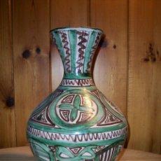 Antigüedades: JARRÓN GRANDE EN CERÁMICA VIDRIADA DE D.PUNTER . ESTILO MUDEJAR DE TERUEL .. Lote 109291579